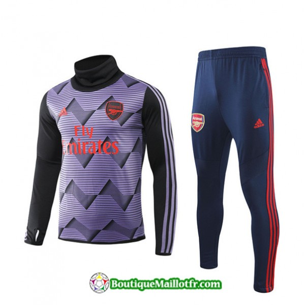 Survetement Arsenal 2019 2020 Ensemble Violet Noir...