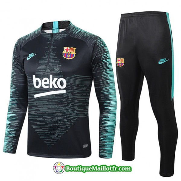 Survetement Barcelone 2019 2020 Ensemble Noir/bleu...