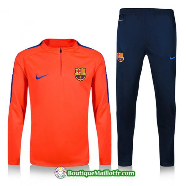 Survetement Barcelone 2019 2020 Ensemble Orange/bl...