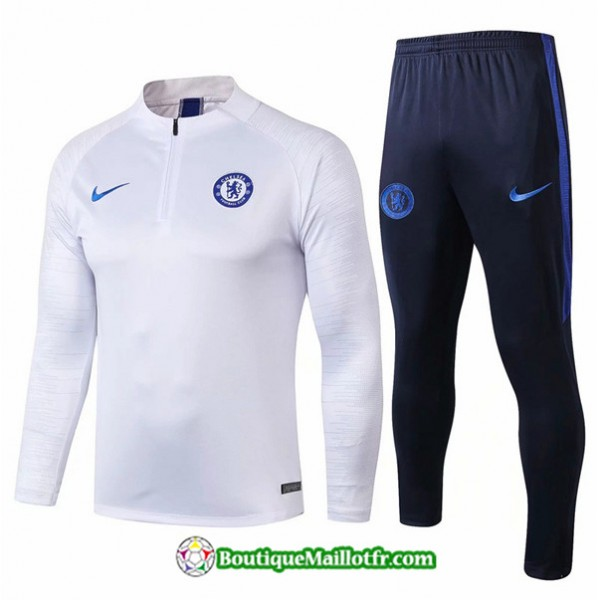 Survetement Chelsea 2019 2020 Ensemble Blanc/bleu ...