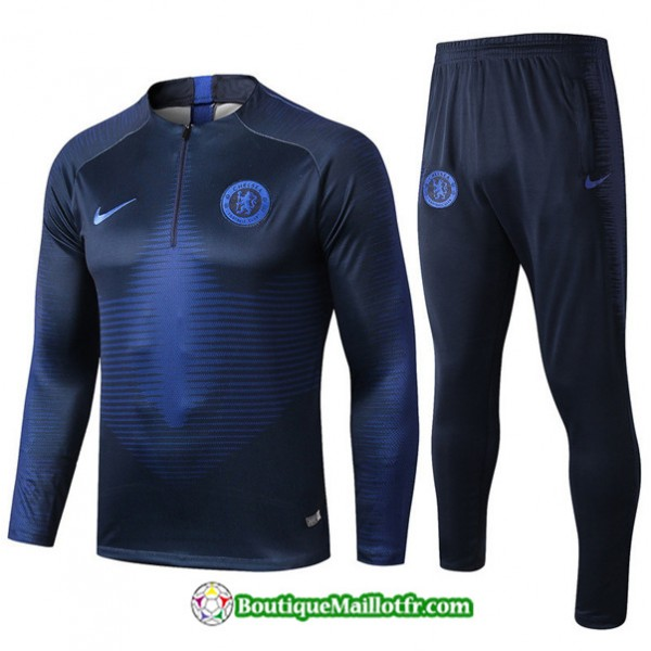 Survetement Chelsea 2019 2020 Ensemble Bleu Marine...