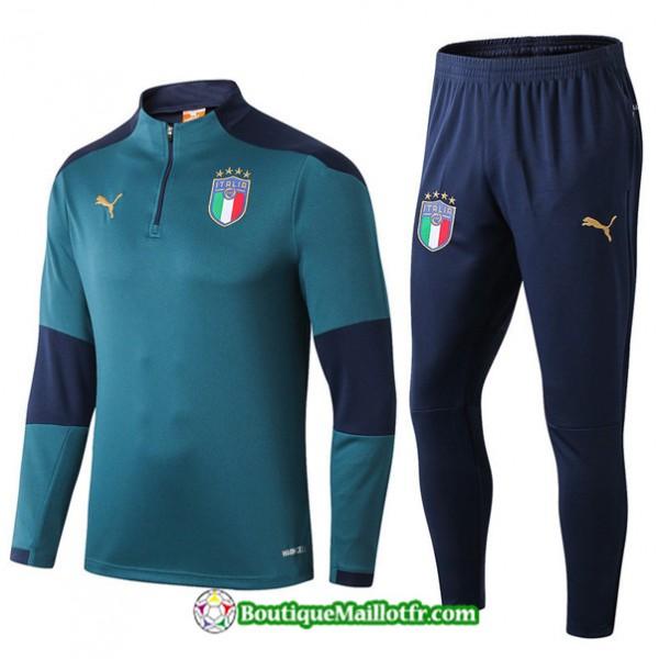 Survetement Italie 2019 2020 Ensemble Vert/bleu Ma...