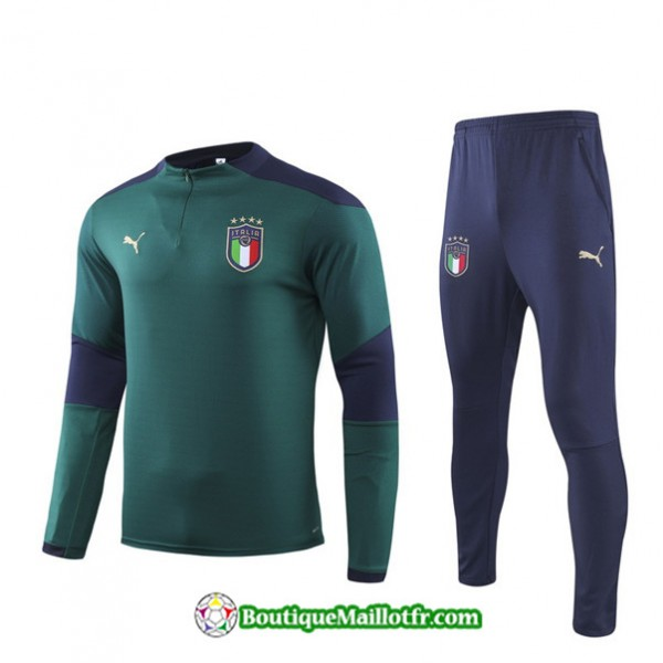 Survetement Italie 2019 2020 Ensemble Vert Sweat Z...