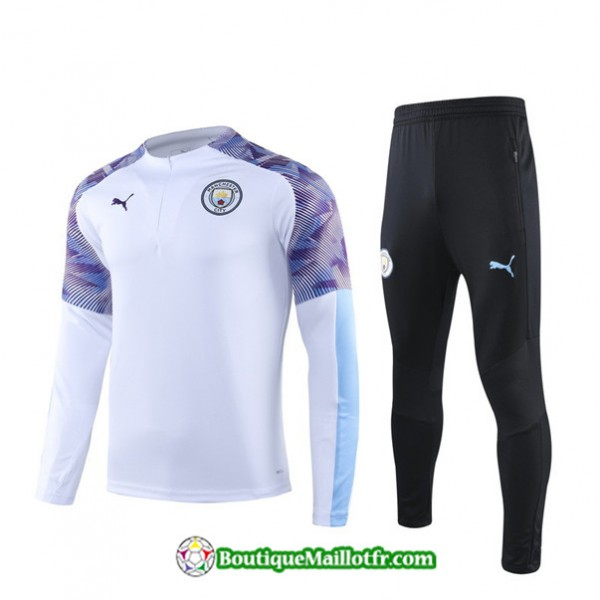 Survetement Manchester City 2019 2020 Ensemble Bla...