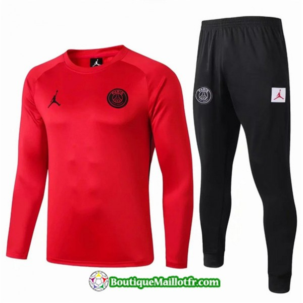 Survetement Psg 2019 2020 Ensemble Rouge/noir Col ...