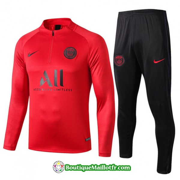Survetement Psg 2019 2020 Ensemble Rouge/noir Swea...