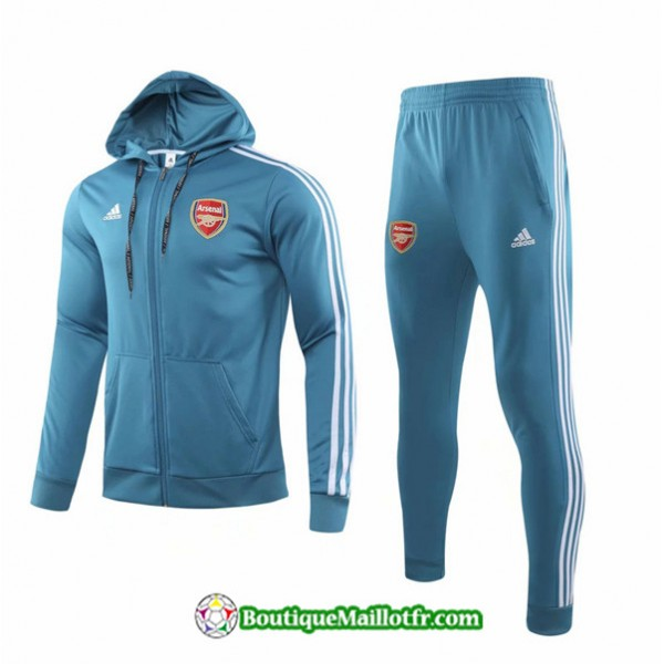 Sweat à Capuche Arsenal 2019 2020 Ensemble Bleu C...