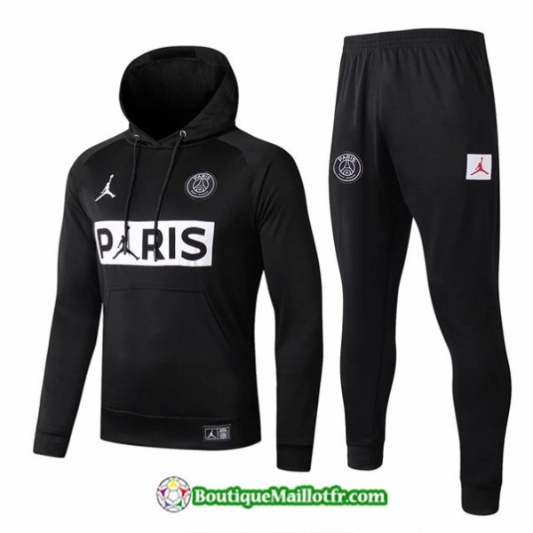 Sweat à Capuche Psg 2019 2020 Ensemble Noir