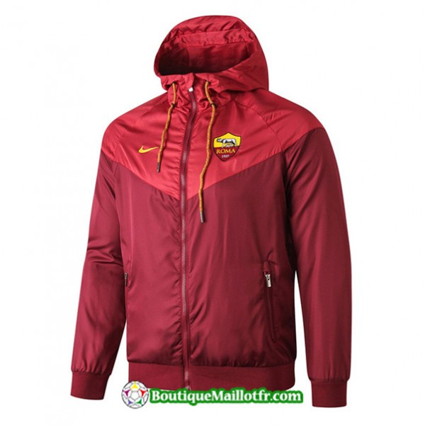 Veste Coupe Vent à Capuche As Roma 2019 2020 Ense...