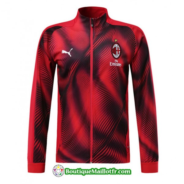 Veste De Foot Ac Milan 2019 2020 Ensemble Rouge/no...