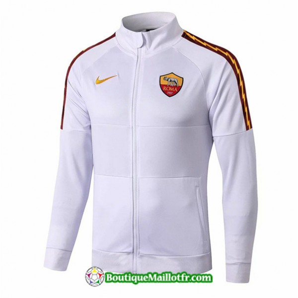 Veste De Foot As Roma 2019 2020 Ensemble Blanc/ble...