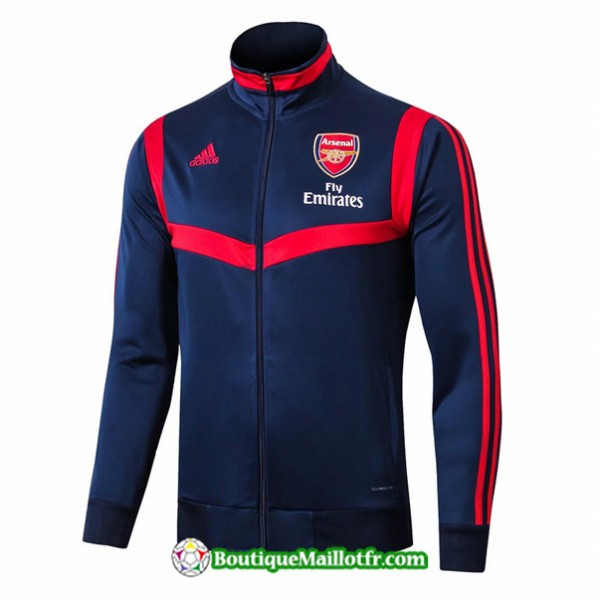 Veste De Foot Arsenal 2019 2020 Ensemble Bleu Mari...
