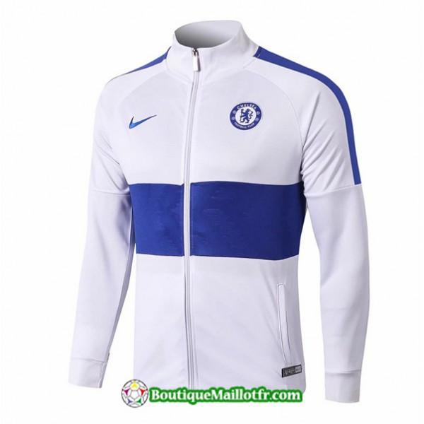 Veste De Foot Chelsea 2019 2020 Ensemble Blanc/ble...