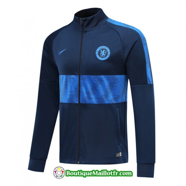 Veste De Foot Chelsea 2019 2020 Ensemble Bleu Mari...