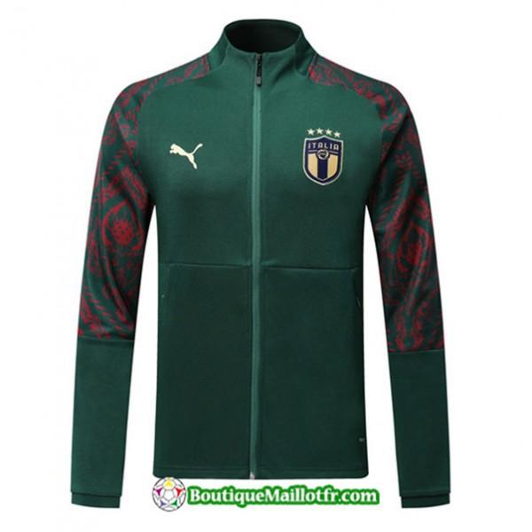 Veste De Foot Italie 2019 2020 Ensemble Vert