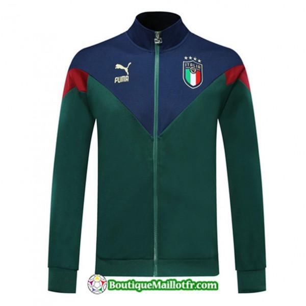 Veste De Foot Italie 2019 2020 Ensemble Vert/bleu