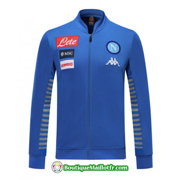 Veste De Foot Naples 2019 2020 Ensemble Bleu/gris