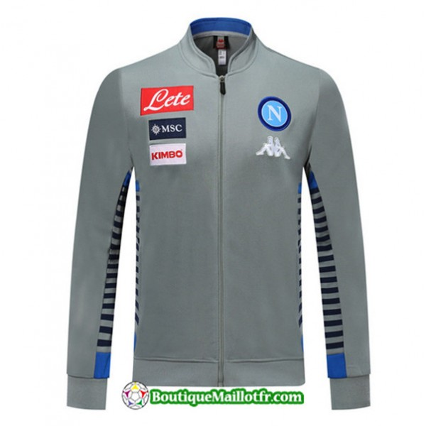 Veste De Foot Naples 2019 2020 Ensemble Gris/bleu