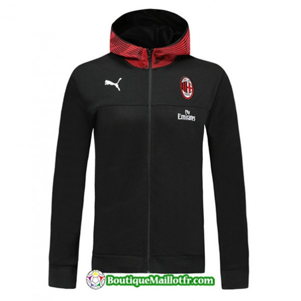 Veste De Foot Sweat à Capuche Ac Milan 2019 2020 ...