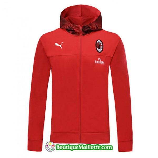 Veste De Foot Sweat à Capuche Ac Milan 2019 2020 ...