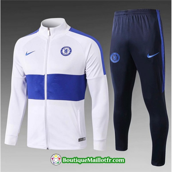 Veste Survetement Chelsea 2019 2020 Ensemble Blanc...