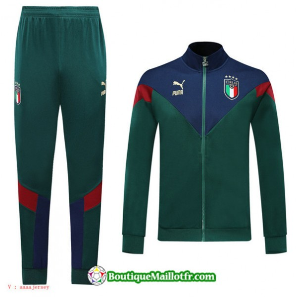 Veste Survetement Italie 2019 2020 Ensemble Vert