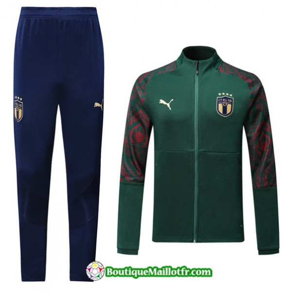 Veste Survetement Italie 2019 2020 Ensemble Vert/b...