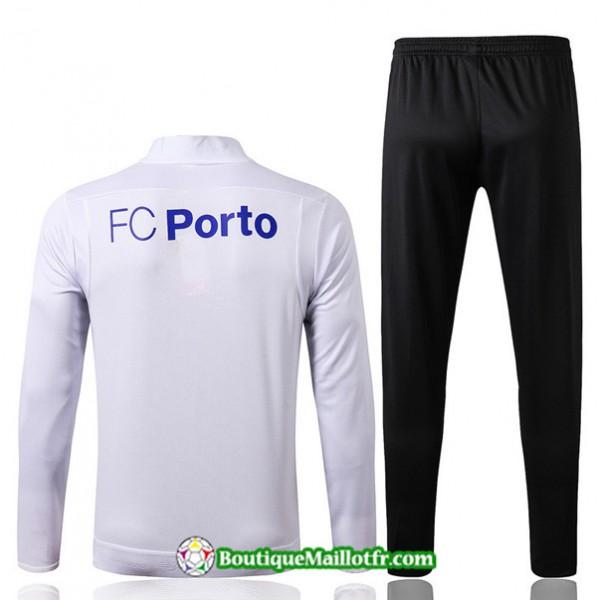 Veste Survetement Porto 2019 2020 Ensemble Blanc/noir