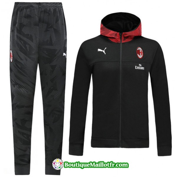 Survetement Sweat à Capuche Ac Milan 2019 2020 En...