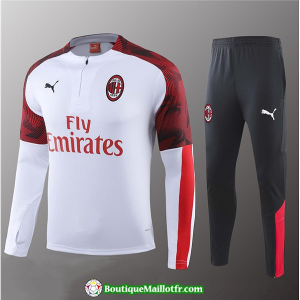 Survetement Ac Milan Enfant 2019 2020 Ensemble Bla...