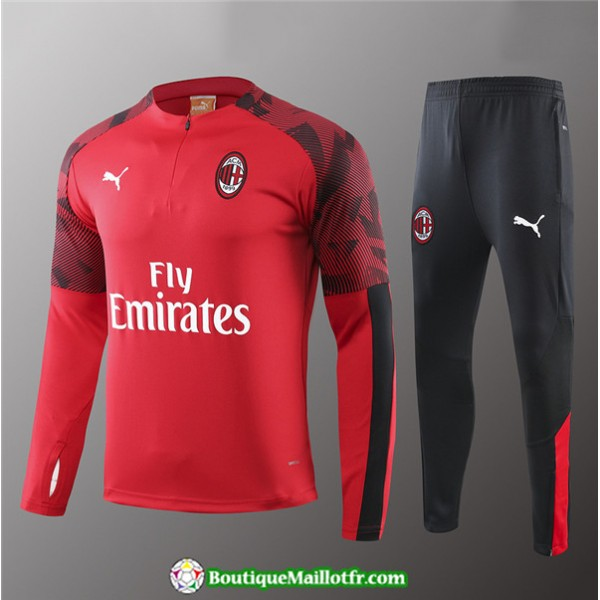Survetement Ac Milan Enfant 2019 2020 Ensemble Rou...