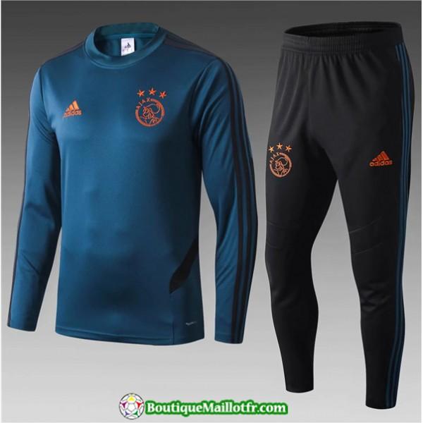 Survetement Ajax Enfant 2019 2020 Ensemble Bleu Ma...