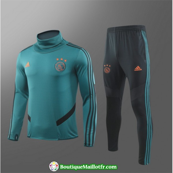 Survetement Ajax Enfant 2019 2020 Ensemble Vert Co...