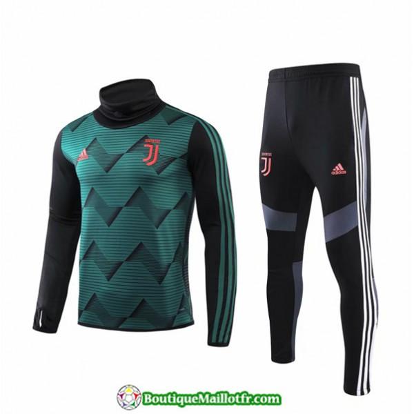 Survetement Juventus 2019 2020 Ensemble Noir/vert ...