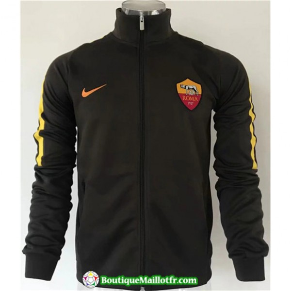 Veste De Foot As Roma 2019 2020 Noir/jaune Bande