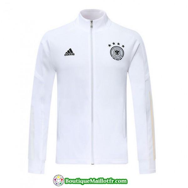 Veste De Foot Allemagne 2019 2020 Blanc