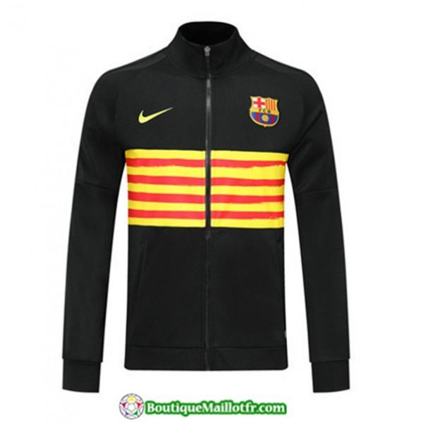 Veste De Foot Barcelone 2019 2020 Noir/jaune