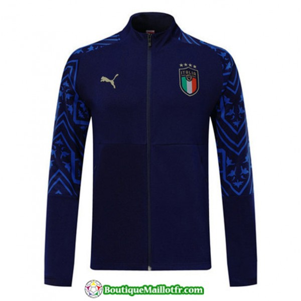 Veste De Foot Italie 2019 2020 Bleu Marine