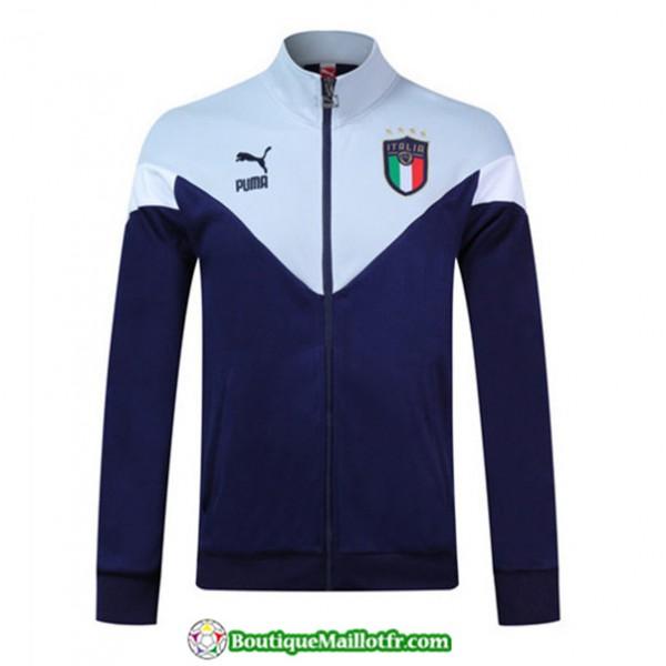 Veste De Foot Italie 2019 2020 Bleu Marine/blanc
