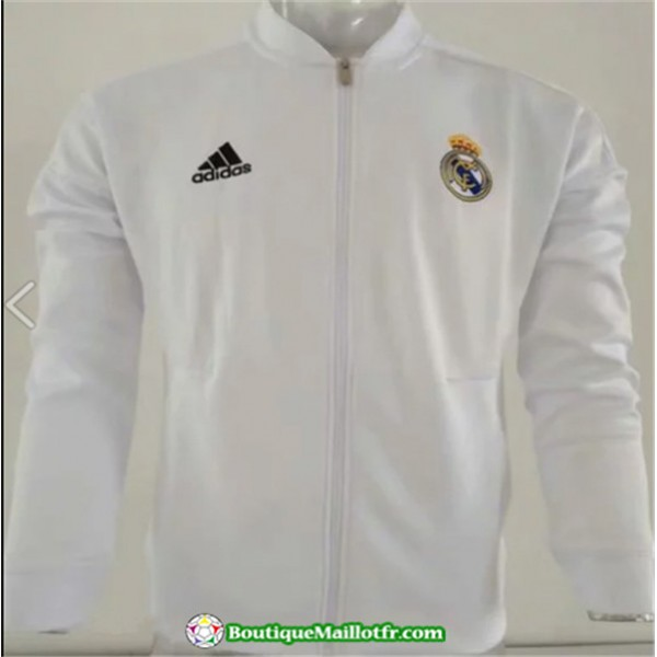 Veste De Foot Real Madrid 2019 2020 Blanc