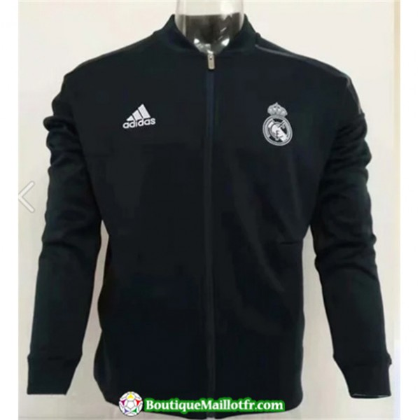 Veste De Foot Real Madrid 2019 2020 Noir