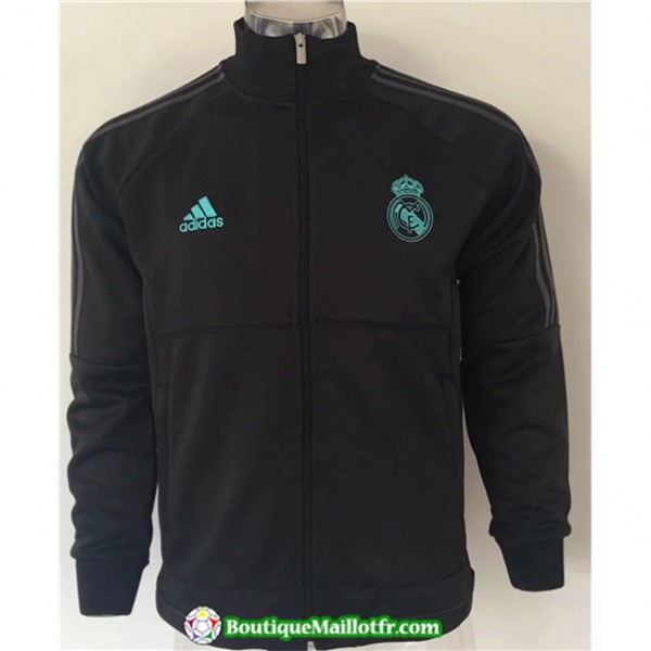 Veste De Foot Real Madrid 2019 2020 Noir/vert Band...