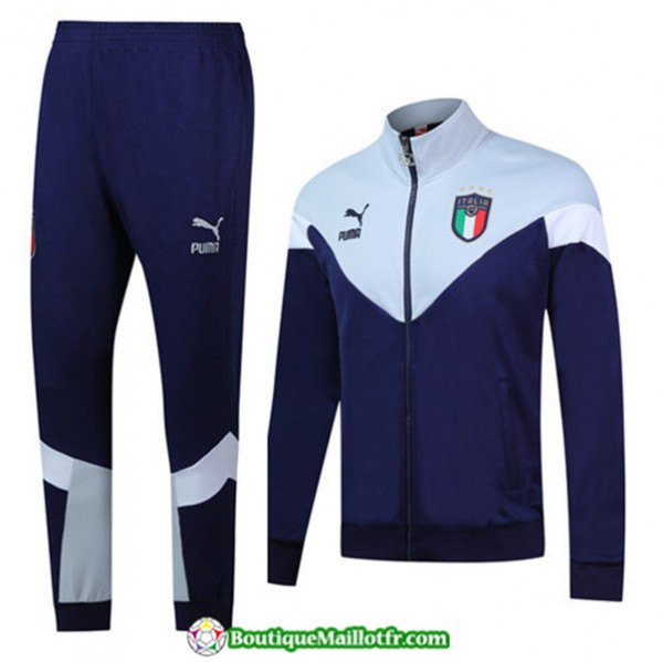 Veste Survetement Italie 2019 2020 Ensemble Bleu M...