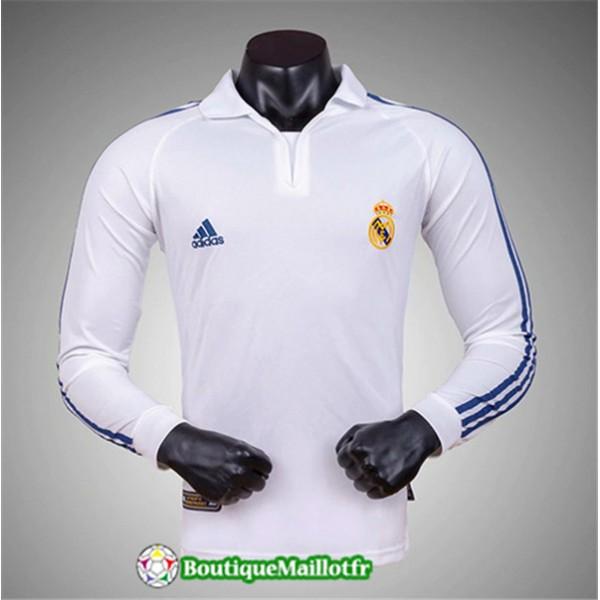 Maillot Real Madrid Classique 2001 02 Domicile Man...