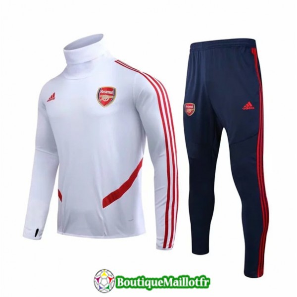 Survetement Arsenal 2019 2020 Ensemble Blanc/rouge...
