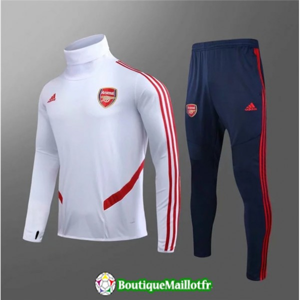 Survetement Arsenal Enfant 2019 2020 Ensemble Blan...