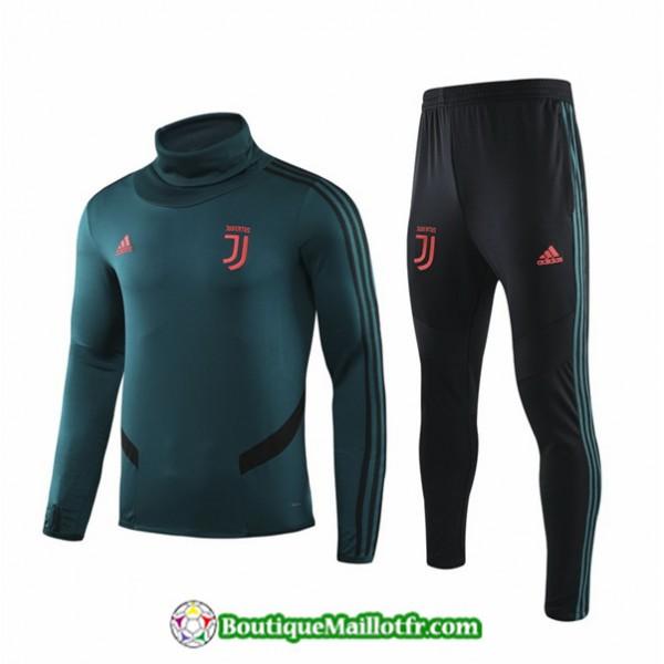 Survetement Juventus 2019 2020 Ensemble Vert Noir�...