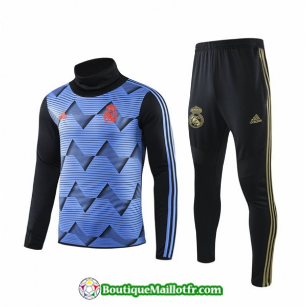 Survetement Real Madrid 2019 2020 Ensemble Bleu Ra...