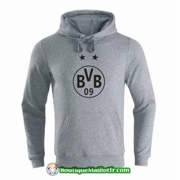 Sweat à Capuche Borussia Dortmund 2019 2020 Gris