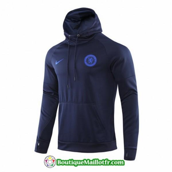 Sweat à Capuche Chelsea 2019 2020 Bleu Marine